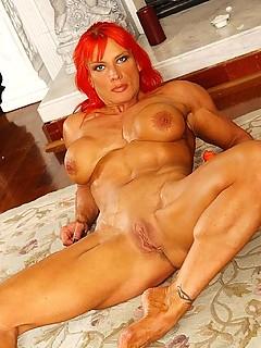 Penis of nudy woman