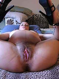 Hot naked girl doing th split