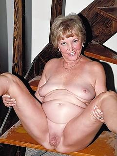 Unusually naked granny